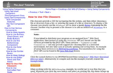 http://download.oracle.com/javase/tutorial/uiswing/components/filechooser.html