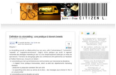 http://citizenl.fr/2011/02/definition-du-storytelling-une-pratique-a-travers-tweets/