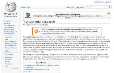 http://en.wikipedia.org/wiki/Translational_research