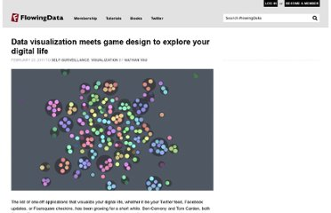 http://flowingdata.com/2011/02/23/data-visualization-meets-game-design-to-explore-your-digital-life/