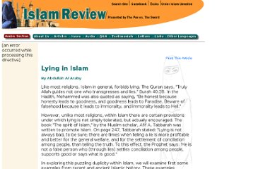 http://www.islamreview.com/articles/lying.shtml