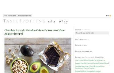 http://www.tastespotting.com/features/chocolate-avocado-pistachio-cake-with-avocado-creme-anglaise-recip