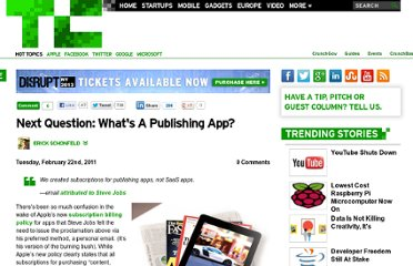 http://techcrunch.com/2011/02/22/jobs-subscriptions-publishing-apps/