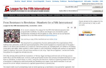 http://www.fifthinternational.org/content/resistance-revolution-manifesto-fifth-international