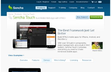 http://www.sencha.com/products/touch/demos/