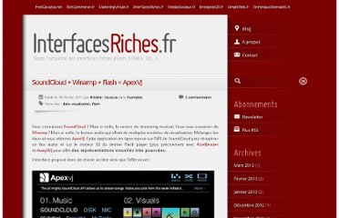 http://www.interfacesriches.fr/2011/02/18/soundcloud-winamp-flash-apexvj/