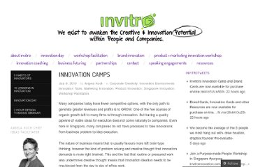 http://invitroinnovation.wordpress.com/2010/07/06/innovation-camps/
