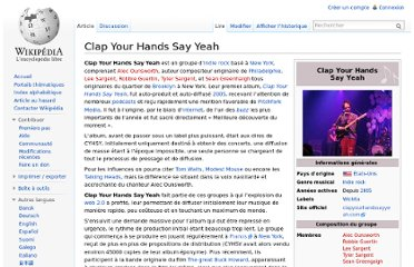 http://fr.wikipedia.org/wiki/Clap_Your_Hands_Say_Yeah