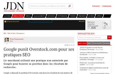 http://www.journaldunet.com/ebusiness/commerce/google-degrade-overstock-com.shtml