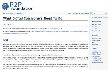 http://p2pfoundation.net/What_Digital_Commoners_Need_To_Do