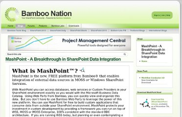 http://community.bamboosolutions.com/blogs/mashpoint/default.aspx