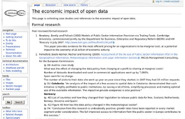 http://wiki.linkedgov.org/index.php/The_economic_impact_of_open_data
