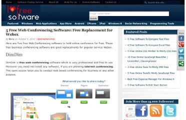 http://www.ilovefreesoftware.com/05/featured/5-free-web-conferencing-software-free-replacement-for-webex.html