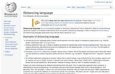 http://en.wikipedia.org/wiki/Distancing_language