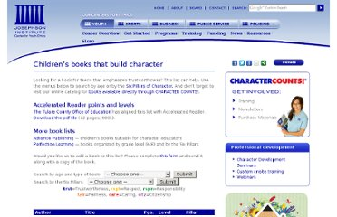 http://charactercounts.org/resources/booklist.php