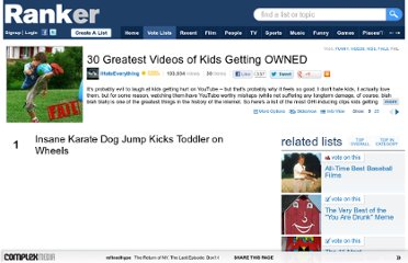 http://www.ranker.com/list/30-greatest-videos-of-kids-getting-owned/ihateeverything