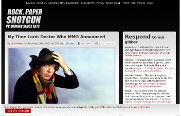 http://www.rockpapershotgun.com/2011/02/24/my-time-lord-doctor-who-mmo-announced/