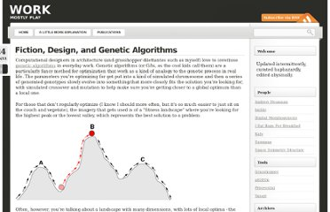 http://work.permanentriot.com/2011/01/fiction-design-and-genetic-algorithms/