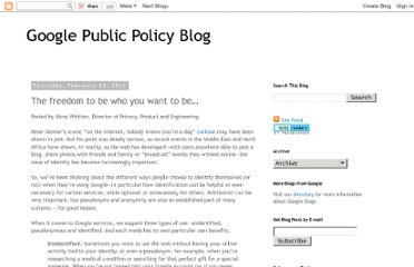 http://googlepublicpolicy.blogspot.com/2011/02/freedom-to-be-who-you-want-to-be.html