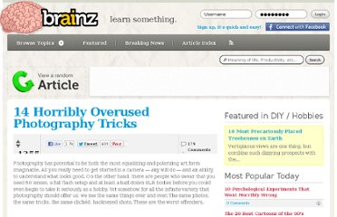 http://brainz.org/14-horribly-overused-photography-tricks/