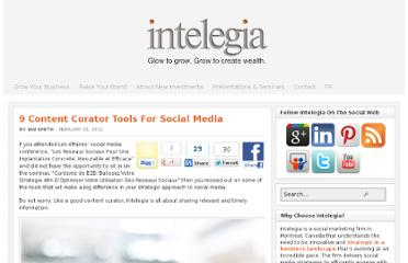 http://www.intelegia.com/en/2011/02/25/9-content-curator-tools-for-social-media/