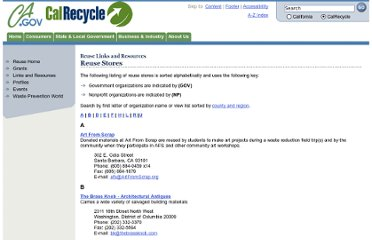 http://www.calrecycle.ca.gov/reuse/Links/Stores.htm
