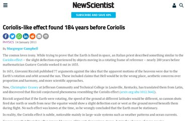 http://www.newscientist.com/article/dn19979-coriolislike-effect-found-184-years-before-coriolis.html