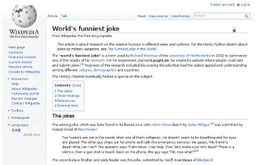 http://en.wikipedia.org/wiki/World%27s_funniest_joke
