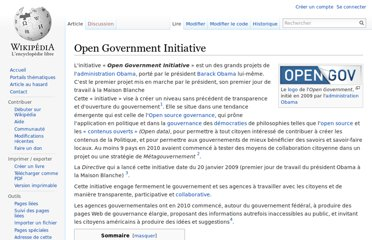 http://fr.wikipedia.org/wiki/Open_Government_Initiative