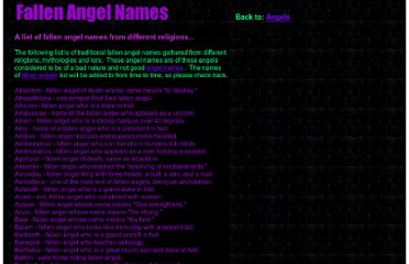 http://www.angelsghosts.com/fallen_angel_names