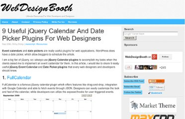 http://www.webdesignbooth.com/9-useful-jquery-calendar-and-date-picker-plugins-for-web-designers/