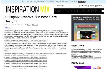 http://www.inspirationmix.com/50-highly-creative-business-card-designs/