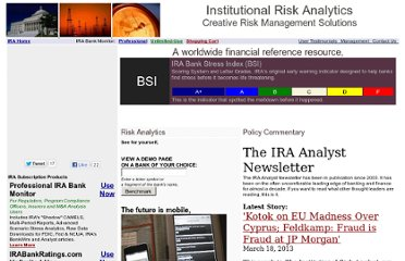 http://us1.institutionalriskanalytics.com/www/index.asp