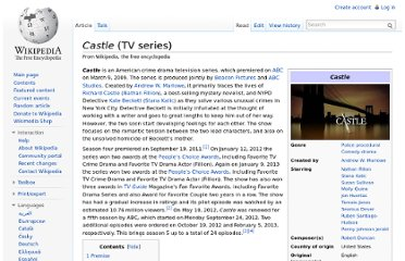 http://en.wikipedia.org/wiki/Castle_(TV_series)