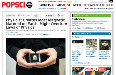 http://www.popsci.com/technology/article/2010-04/most-magnetic-material-ever-created-iron-and-nitrogen-might-overturn-laws-physics