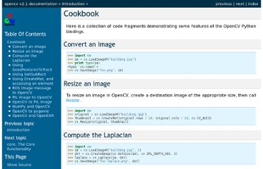 http://opencv.willowgarage.com/documentation/python/cookbook.html
