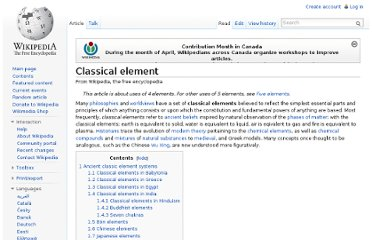 http://en.wikipedia.org/wiki/Classical_element