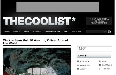 http://www.thecoolist.com/office-design-excellence-10-amazing-office-designs-around-the-world/