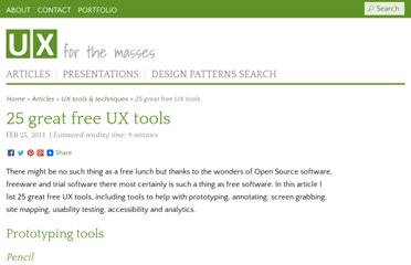 http://www.uxforthemasses.com/free-ux-tools/
