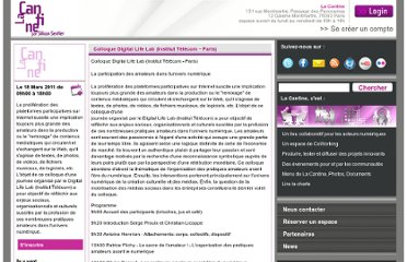 http://lacantine.org/events/colloque-digital-life-lab-institut-telecom-paris