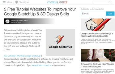http://www.makeuseof.com/tag/5-free-tutorial-websites-improve-google-sketchup-3d-design-skills/