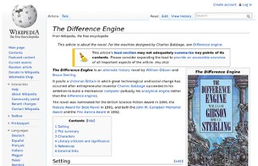 http://en.wikipedia.org/wiki/The_Difference_Engine