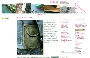 http://en.espritcabane.com/sewing/surplus-field-bag.php
