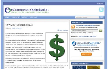 http://www.zencartoptimization.com/2007/12/27/14-words-that-lose-money/