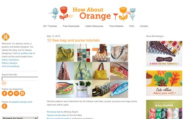 http://howaboutorange.blogspot.com/2010/05/12-free-bag-and-purse-tutorials.html