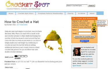 http://www.crochetspot.com/how-to-crochet-a-hat/