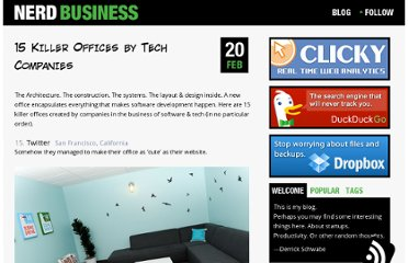 http://nerdbusiness.com/blog/15-killer-offices-tech-companies