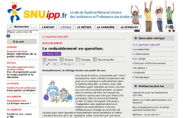 http://www.snuipp.fr/Le-redoublement-en-question