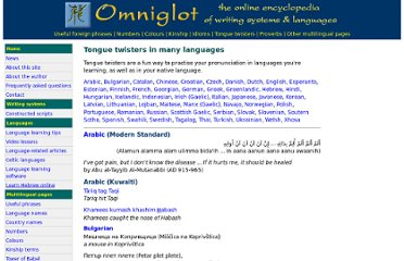 http://www.omniglot.com/language/phrases/tonguetwisters.htm