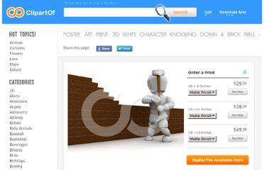 http://www.clipartof.com/interior_wall_decor/details/3d-White-Character-Knocking-Down-A-Brick-Wall-1-Poster-Art-Print-227823
